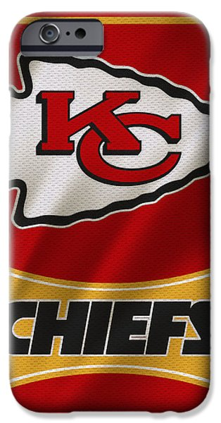 Chief iPhone Cases - Kansas City Chiefs Uniform iPhone Case by Joe Hamilton