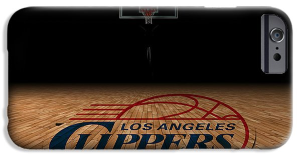 Division iPhone Cases - Los Angeles Clippers iPhone Case by Joe Hamilton