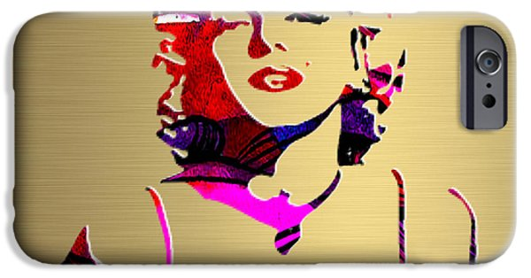 Marilyn Monroe iPhone Cases - Marilyn Monroe Gold Series iPhone Case by Marvin Blaine
