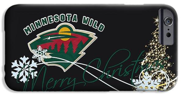 Minnesota iPhone Cases - Minnesota Wild iPhone Case by Joe Hamilton