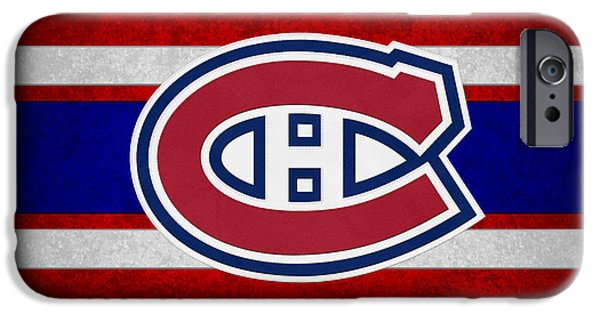Santa iPhone Cases - Montreal Canadiens iPhone Case by Joe Hamilton