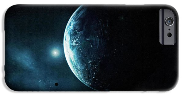 Screen Print iPhone Cases - Moonlight Poster iPhone Case by Victor Gladkiy