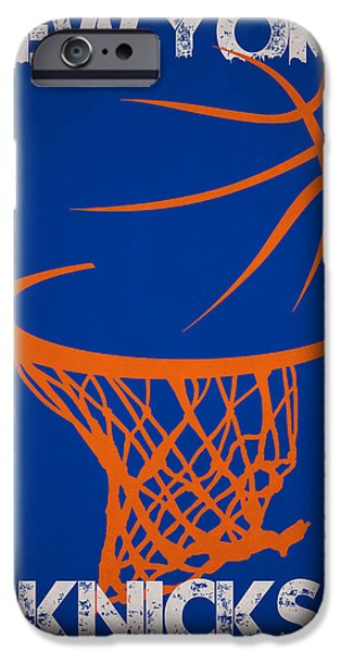 3 Pointer iPhone Cases - New York Knicks iPhone Case by Joe Hamilton