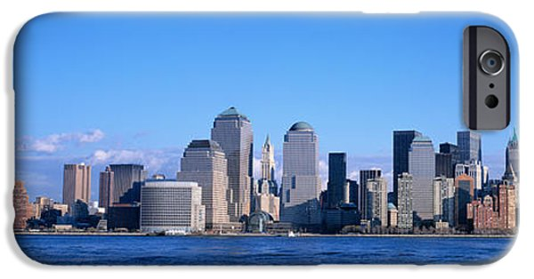 Twin Towers Nyc iPhone Cases - Nyc, New York City New York State, Usa iPhone Case by Panoramic Images
