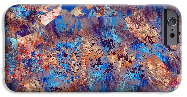 Fibrous Crystals iPhone Cases - Ocean Jasper iPhone Case by Bernardo Cesare