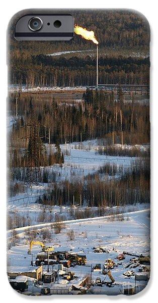 Oil Portrait Photographs iPhone Cases - Oil Field iPhone Case by RIA Novosti