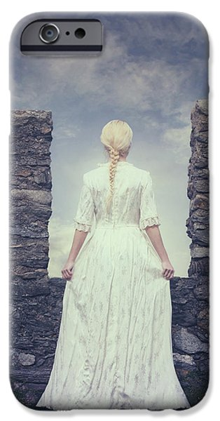 Noble iPhone Cases - Period Lady iPhone Case by Joana Kruse