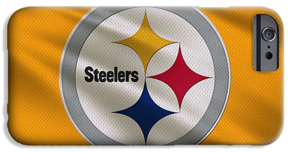 Steelers iPhone Cases - Pittsburgh Steelers Uniform iPhone Case by Joe Hamilton