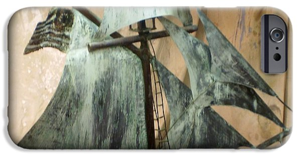 Tall Ship Sculptures iPhone Cases - Privateer iPhone Case by William Osmundsen