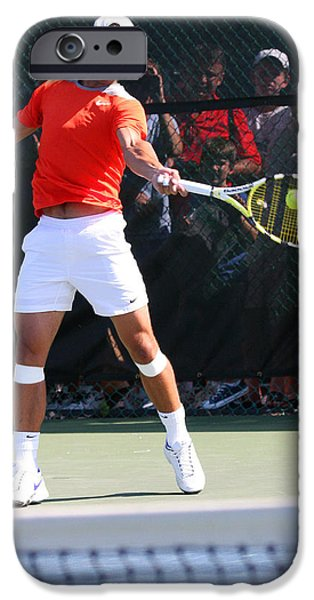 Atp Photographs iPhone Cases - Rafael Nadal iPhone Case by James Marvin Phelps