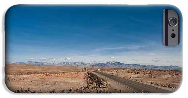 Park Scene iPhone Cases - Road from Arequipa to Chivay iPhone Case by Ulrich Schade