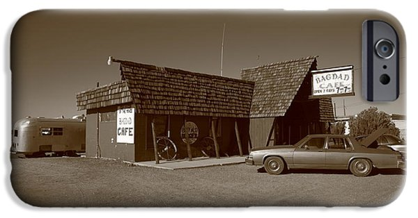 Baghdad iPhone Cases - Route 66 - Bagdad Cafe iPhone Case by Frank Romeo