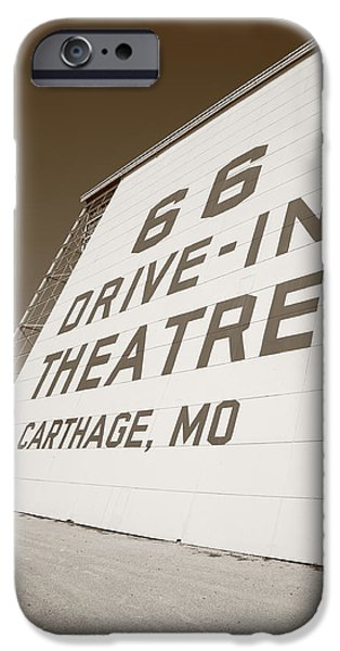 Route 66 Drive-In Theatre iPhone Case by Frank Romeo