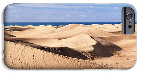 Sahara Sunlight iPhone Cases - Sand Dunes In A Desert, Maspalomas iPhone Case by Panoramic Images