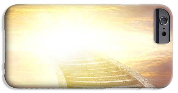 Pathway iPhone Cases - Stairway to heaven iPhone Case by Les Cunliffe