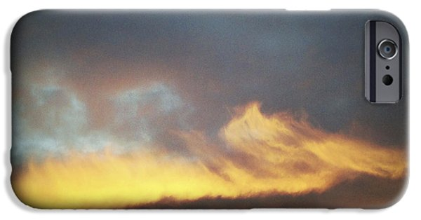 Sunlit iPhone Cases - Sunset sky iPhone Case by Les Cunliffe