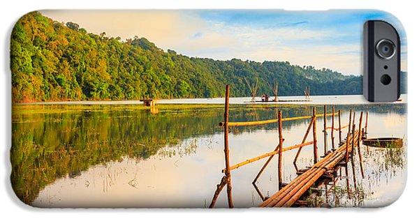 Amazing Sunset iPhone Cases - Tamblingan lake iPhone Case by MotHaiBaPhoto Prints