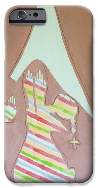 Pottery Ceramics iPhone Cases - The Annunciation iPhone Case by Gloria Ssali