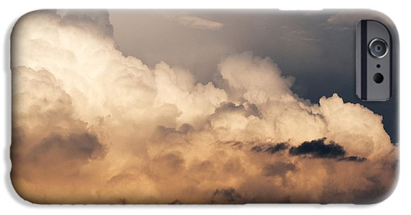 Thunderhead iPhone Cases - Thunderhead at Sunset iPhone Case by Thomas R Fletcher