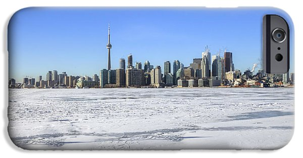 Frozen Lake iPhone Cases - Toronto iPhone Case by Joana Kruse