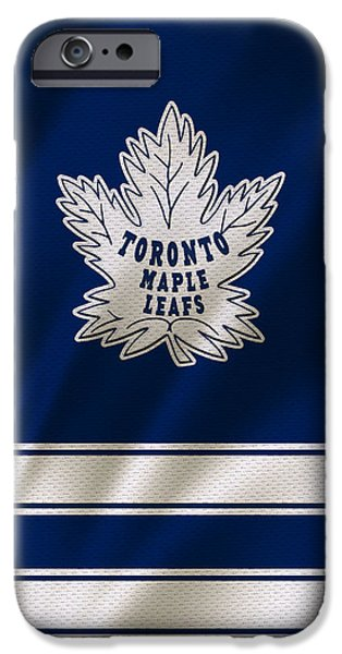 Recently Sold -  - Winter iPhone Cases - Toronto Maple Leafs iPhone Case by Joe Hamilton