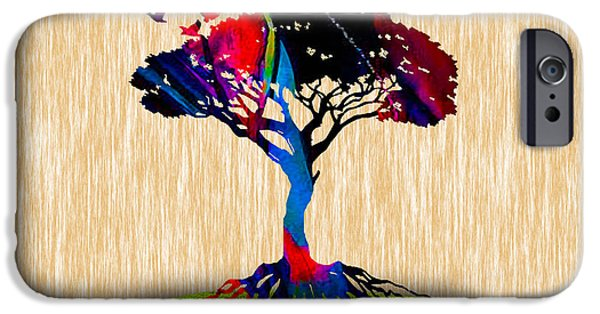 Zen iPhone Cases - Tree Of Life Painting iPhone Case by Marvin Blaine