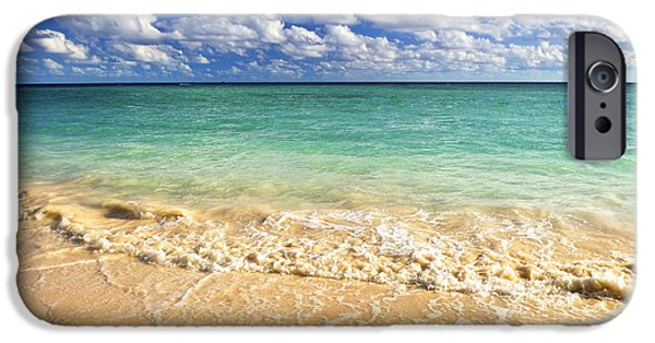 Beach Landscape iPhone Cases - Tropical beach iPhone Case by Elena Elisseeva