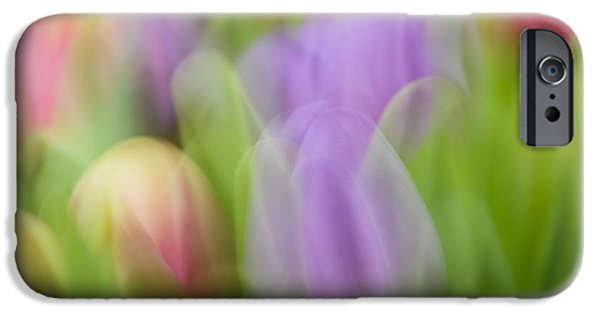 Decorativ iPhone Cases - Tulips iPhone Case by Silke Magino
