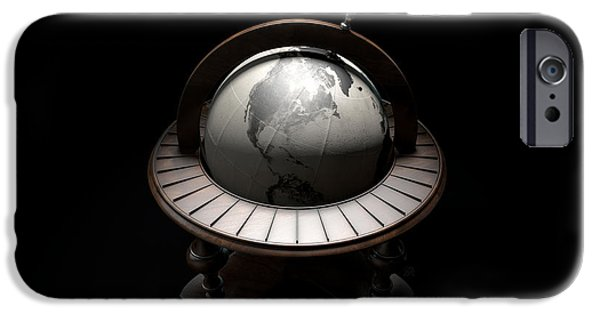 Concept Digital iPhone Cases - Vintage Wooden World Globe iPhone Case by Allan Swart