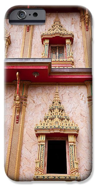 Buddhist iPhone Cases - Wat Chalong buddhist temple iPhone Case by Jan Mika