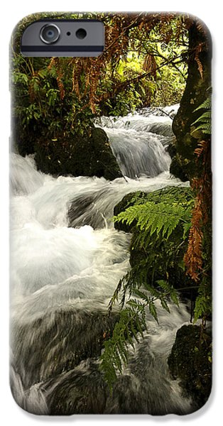 Flooding iPhone Cases - Waterfall  iPhone Case by Les Cunliffe