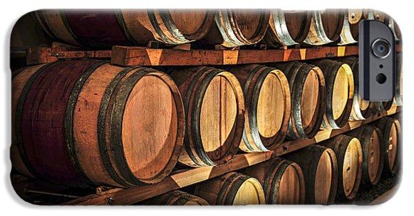 Cellar iPhone Cases - Wine barrels iPhone Case by Elena Elisseeva