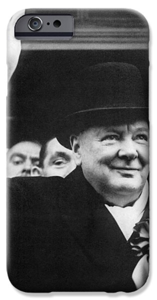 1940s Portraits iPhone Cases - Winston Churchill iPhone Case by Granger
