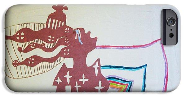 Contemporary Art Ceramics iPhone Cases - Wise Virgin iPhone Case by Gloria Ssali