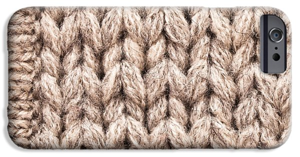Technique iPhone Cases - Wool background iPhone Case by Tom Gowanlock
