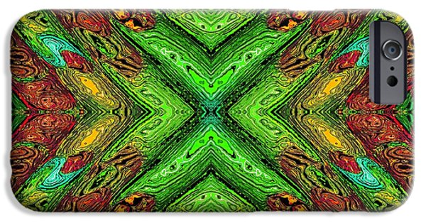 Abstract Digital Photographs iPhone Cases - 70s Blacklight Poster 7 iPhone Case by Darrell Arnold