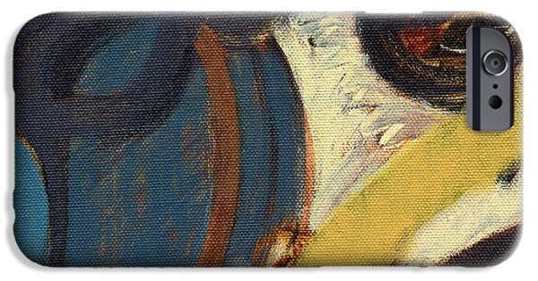 Abstract Canvas Paintings iPhone Cases - RCNpaintings.com iPhone Case by Chris N Rohrbach