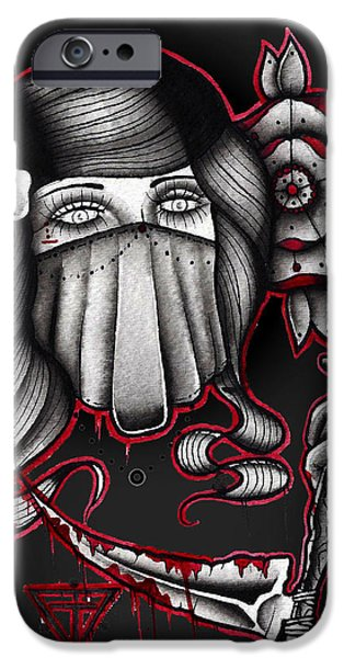 Tattoo Flash iPhone Cases - 742 iPhone Case by Gus TripleZero