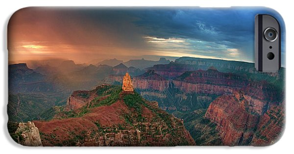 Dave iPhone Cases - 749220321 North Rim Grand Canyon Arizona iPhone Case by Dave Welling