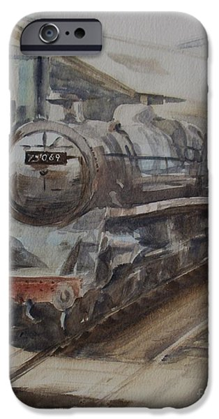 Swindon iPhone Cases - 75069 BR Standard Class 4 iPhone Case by Martin Howard