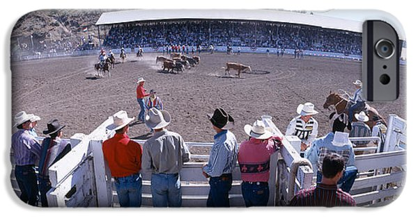 Agricultural iPhone Cases - 75th Ellensburg Rodeo, Labor Day iPhone Case by Panoramic Images