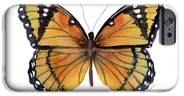 Moth iPhone Cases - 76 Viceroy Butterfly iPhone Case by Amy Kirkpatrick
