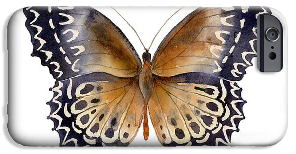 Moth iPhone Cases - 77 Cethosia Butterfly iPhone Case by Amy Kirkpatrick