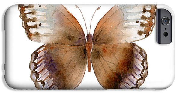 Moth iPhone Cases - 79 Jungle Queen Butterfly iPhone Case by Amy Kirkpatrick