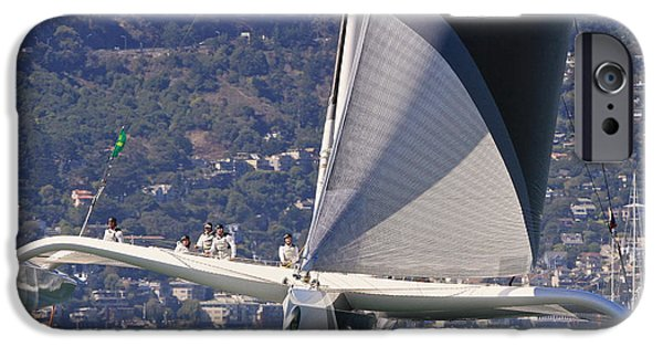 Sausalito iPhone Cases - San Francisco sailing iPhone Case by Steven Lapkin