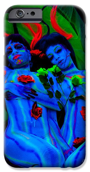 Couple iPhone Cases - Neon iPhone Case by Ron Vestal