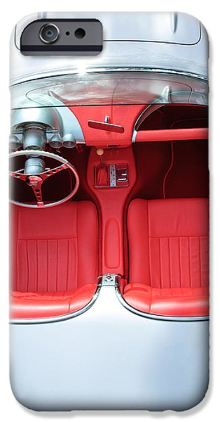 1960 iPhone Cases - 1960 Chevrolet Corvette iPhone Case by Jill Reger