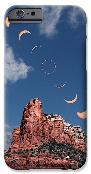 Sedona iPhone Cases - Annular Solar Eclipse Phases iPhone Case by Babak Tafreshi