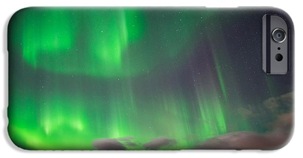 Lapland iPhone Cases - Aurora Borealis Or Northern Lights iPhone Case by Panoramic Images