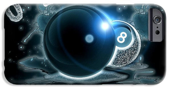 Fanatic iPhone Cases - 8 Ball Fanatic iPhone Case by David G Paul